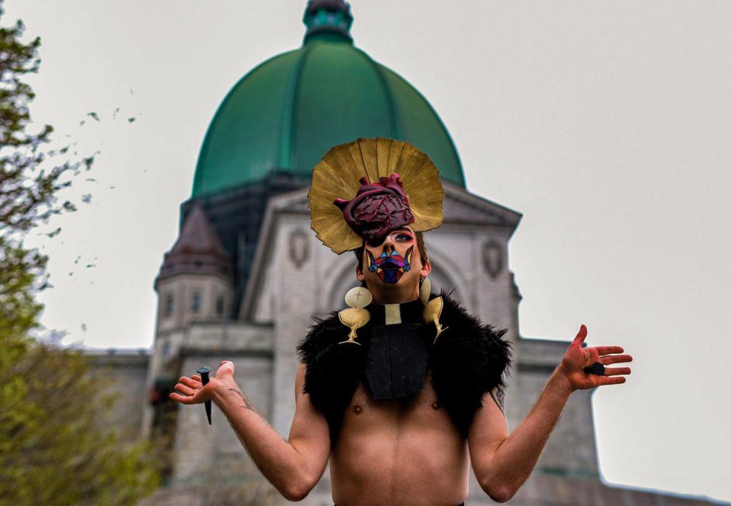 This image has an empty alt attribute; its file name is local-relic-raphë-queer-artist-montreal-raphael-lafleur-performance-drag-costumery-handmade-queer-oratory-mont-royal-st-joseph-montreal-min-min-1024x709.jpg
